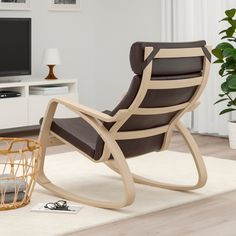 POÄNG Schommelstoel - wit gelazuurd eikenfineer, Glose donkerbruin - IKEA Rocking Chair, Design, Home Decor, Products, Material, Car Stuff, Home, Ikea Products, Rocker Recliner Chair