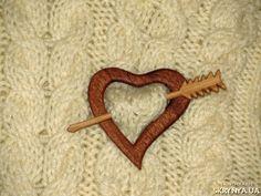 Заколка для шали Wooden Shawl Pin
