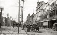 Canal Street, New Orleans, 1890s, by WIlliam Henry Jackson
