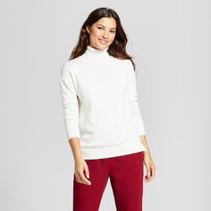 Women's Turtleneck Sweater - A New Day Cream (Ivory) Xxl