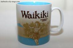 Waikiki-1 Starbucks City Mugs, Global Icon, Icon Collection, Tile Design, The Hamptons, Coffee Mugs, Tableware, Thimble, Hawaiian