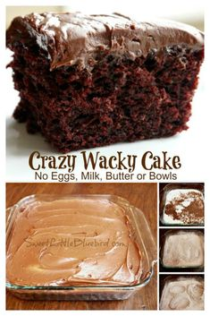 CRAZY CAKE, also known as Wacky Cake & Depression Cake- No Eggs, Milk, Butter,Bowls or Mixers!!! Super moist & delicious! Great activity to do with kids! Go to recipe for egg/dairy allergies. Recipe dates back to the Great Depression. It's darn good cake! #CrazyCake #WackyCake #DairyFreeCake #EggFreeCake #VeganCake