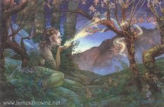 Dawn Fairy 8.5x11 Signed Print with Story Included by brownieman, $11.50