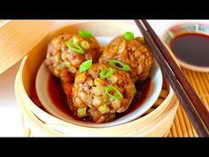 VEGAN DIM SUM - CHINESE LION'S HEAD MEATBALLS!! (素食 獅子頭)