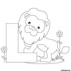 Printable Animal Alphabet worksheets Letter L is for Lion - Printable Coloring Pages For Kids