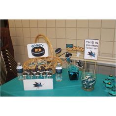 San Jose Sharks Treats Hockey Birthday Parties Party Baseball