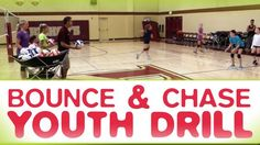 Bounce and chase beginners' drill