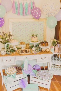 Shabby Chic Lavender and Mint Birthday Party at Kara's Party Ideas. See more at karaspartyideas.com!
