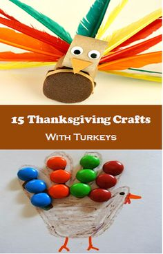 15 Thanksgiving Crafts with Turkeys