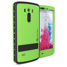 LG G3 Waterproof Case, Ghostek Atomic Green W/ Attached Screen Protector Slim Fitted LG G3 D850 D851 D855 VS985 LS990 GHOCAS244