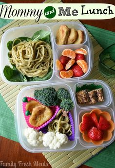 See how to save time by packing a lunch for YOU and the kiddos at the same time.