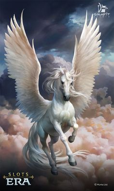 Pegasus, the Winged Horse Mythical Creatures Art, Mythological Creatures, Magical Creatures, Fantasy Creatures, Horse Drawings, Animal Drawings, Wolf Drawings, Art Drawings, Animal Illustrations