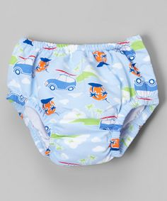 This Light Blue Island Cars Snap Swim Diaper - Infant by i play is perfect! #zulilyfinds