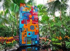stunning, mind-blowing tile garden sculpture by Roberto Burle Marx ...
