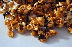 tipsy maple corn popcorn with pancetta bourbon and maple syrup making ...