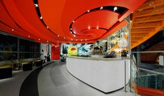 SushiSamba designed by CetraRuddy (view of entry bar and glass staircase)
