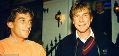 Ayrton Senna and James Hunt, London, 1992