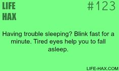 If you have trouble sleeping, try this - LIFE HAX