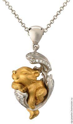 Купить Кулон, серьги - Magerit - magerit, бренд, ювелирное украшение, подарок, ручная работа, золото