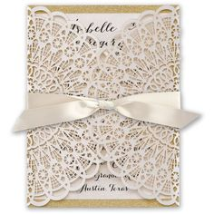 Rustic Glam Laser Cut and Real Glitter Invitation (7 115 UAH) ❤ liked on Polyvore featuring home, home decor, rustic home accessories, personalized wedding invitations, rustic wedding invitations, personalized home decor and rustic home decor