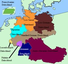 The Word for Germany in various German dialects