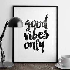Good Vibes Only http://www.amazon.com/dp/B01708GP7G  inspirational quote word art print motivational poster black white motivationmonday minimalist shabby chic fashion inspo typographic wall decor