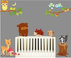 Perfect Sunnicy Wandtattoo Wandsticker Dschungel Eulen auf dem Ast Die Welt der Tiere Wandbilder f r schlafzimmer
