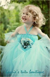 Teal tutu dress - @Savannah Hall McCall flower girl dresses :)
