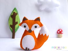 (9) Name: 'Sewing : Felt Fox- PDF Pattern