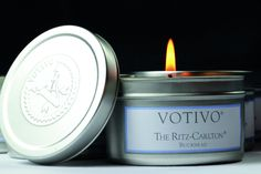 Surround yourself with fragrance on your global travels. This small candle tucks into a travel bag, and the luxurious scent was made exclusively for The Ritz-Carlton, Buckhead.