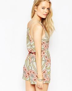 ASOS Pretty Occassion Playsuit with Drape Back