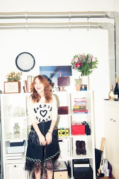 """Some of my favorite shows came to my attention because I liked the presenter's outfits."" http://www.thecoveteur.com/angela-scanlon/"