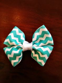 Cute girls hair bow barrette in assorted patterns by TheFloralFern, $10.00