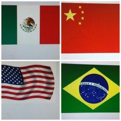 Los estudiantes tiene que saber las banderas de los paises que estan estudiando.