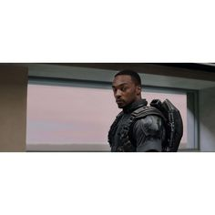 Captain America 2 Set Interview Anthony Mackie Talks Falcon The... ❤ liked on Polyvore featuring avengers and marvel