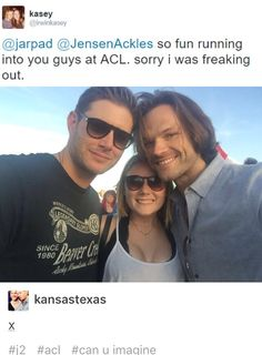 Another fan encounter at ACL2015. Beginning to think that flying to Austin, going to ACL and getting free phone shots with J2 would be cheaper than a convention! ;-P