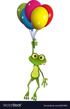 Frog Discover Frog on balloons Royalty Free Vector Image - VectorStock Giraffe Drawing, Frog Drawing, Drawing For Kids, Clipart, Frog Template, Tree Frog Tattoos, Comic Cat, Frog Rock, Hump Day Humor