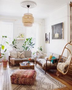 Mid-century meets Boho in a Brooklyn Home