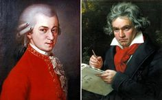 Ludwig van Beethoven (right) is now more popular than Wolfgang Mozart (left) Classical Liberalism, Child Prodigy, The Magic Flute, Ode To Joy, Man Parts, Music Do, Types Of Music, Classical Music, Orchestra