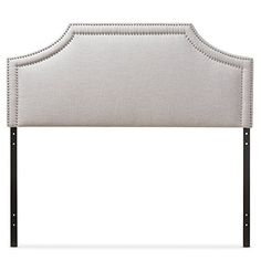 Baxton Studio Guifford Modern Contemporary Fabric Upholstered Headboard Full Greyish Beige *** For more information, visit image link. (This is an affiliate link) Contemporary Headboards, Contemporary Fabric, Modern Contemporary, Leggett And Platt, Queen Size Headboard, Cut Out Shapes, Panel Headboard, Baxton Studio, Nailhead Trim