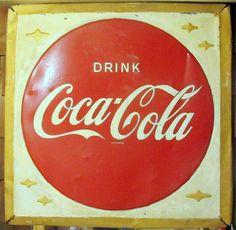Vintage Coca Cola Sign  Coke Sign  Drink Coca by VintageQuiltStore, $200.00