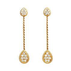 Yellow gold and diamond Serpent Bohème earrings by Boucheron