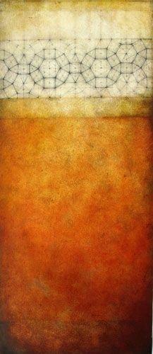 """Luisa Sartori   Thun  2010  graphite, oil on prepared paper  13' x 30"""""""
