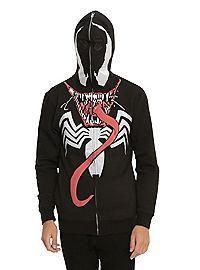 HOTTOPIC.COM - Marvel Venom Costume Full Zip Hoodie