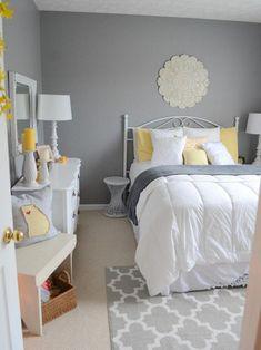 Bedroom Design Ideas Best Gray Bedroom Ideas gray bedrooms ideas, gray decor b Yellow Gray Bedroom, Light Gray Bedroom, Mustard And Grey Bedroom, Bedroom Brown, Grey Room Decor, Gray Decor, Room Ideas Bedroom, Bedroom Designs, Bed Room