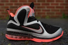341cb3c7084 Nike LeBron 9 Bright Mango New Detailed Pics Metallic Silver Metallic  Silver Bright Mango 469764 005