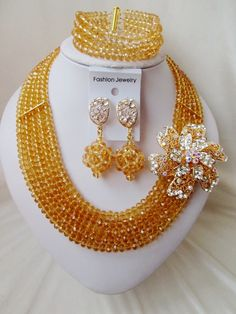 Find More Jewelry Sets Information about 2016 Fashion Champagne Gold african crystal beads necklace set nigerian wedding african beads jewelry set Free shipping WIN018,High Quality jewelry 18k,China jewelry nipple Suppliers, Cheap jewelry silversmith from Chinese jewelry import and export co., LTD on Aliexpress.com