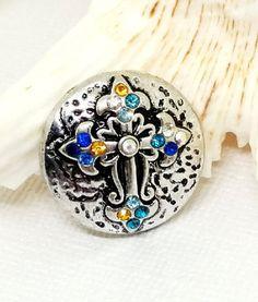 Holy Cross Charm Snap Button Jewelry Multi by SnazzySnapsJewelry