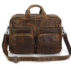 """Kobe"" Distressed Leather Men's Hybrid Backpack"