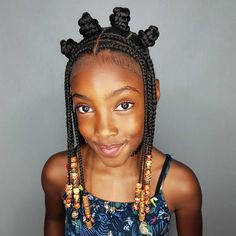 Edge up your look with one of these cool bantu knots. This post 19 Amazing Ways to Wear Bantu Knots, was originally published at Latest Hairstyles Bantu Knot Hairstyles, Toddler Braided Hairstyles, Black Kids Hairstyles, Baby Girl Hairstyles, Halo Hairstyle, Cute Box Braids Hairstyles, Teenage Hairstyles, Hairstyles Videos, Formal Hairstyles